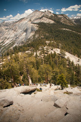 On the way to the top of Half Dome