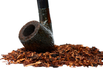 Tobacco and pipe close-up