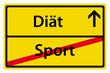 Diät statt Sport