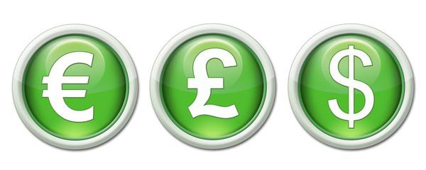 icônes symboles des devises