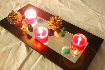 glowing votive