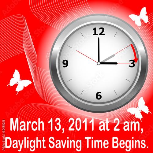 Daylight saving time begins.