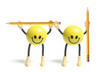 Smiley Toys with Pencils