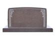 Leinwanddruck Bild - Wide, blank tombstone isolated on white