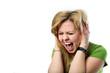 Leinwanddruck Bild - Laut schreiendes Mädchen