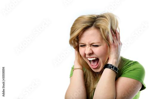 Leinwanddruck Bild Laut schreiendes Mädchen