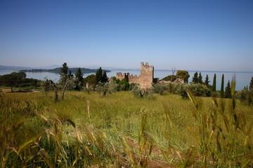 Umbria, lago Trasimeno, antico borgo medievale
