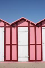 cabina da mare rosa