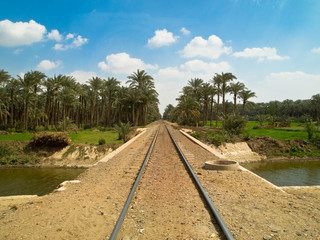 Railway network in Cairo