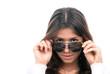 fashion woman wearing off sunglasses