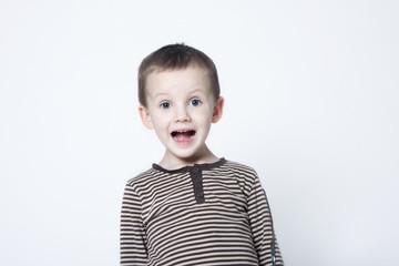 Portrait of surprised boy