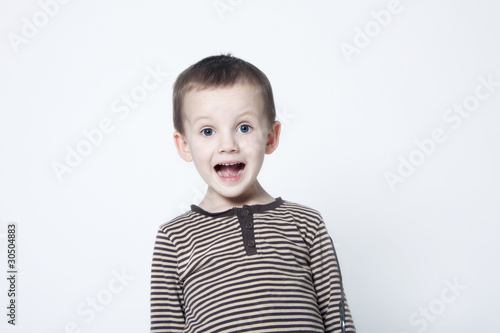 Portrait of surprised boy