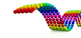 3D Würfel - Regenbogen Schlange 11