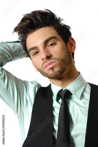 jeune homme brun 10 photo libre de droits sur la banque d 39 images image 30506255. Black Bedroom Furniture Sets. Home Design Ideas