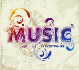 Fototapety Hand drawn music lettering