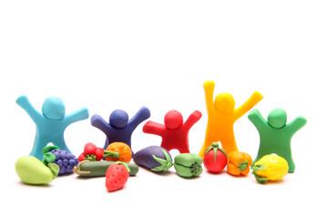 Wir lieben Obst und Gemüse