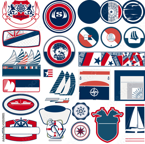marine and nautical vector labels