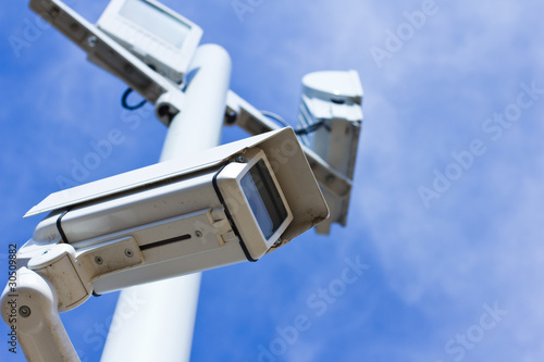 Surveillance camera from low angle