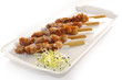 Five chicken yakitori skewers