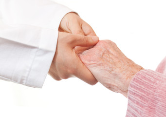 Doctor and Senior's Hands