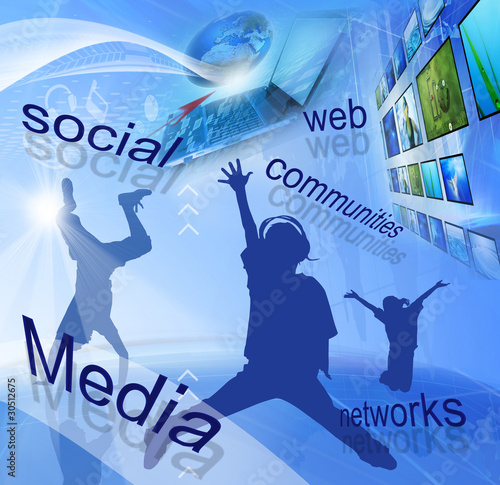 Social media networks (Global and Communication concept)