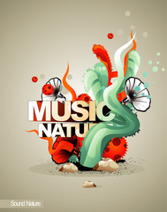 music nature vector illustration