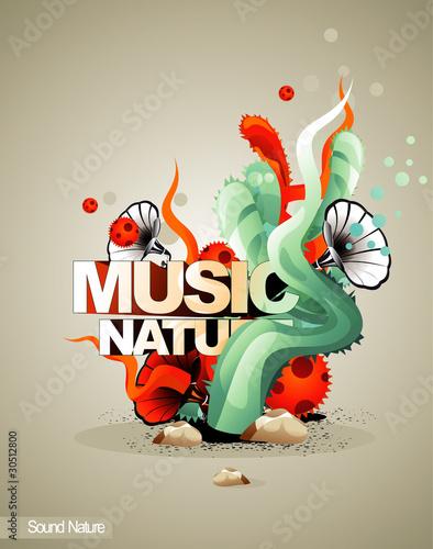 music nature vector illustration