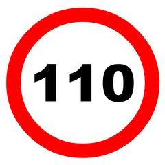 Señal limite velocidad 110