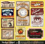 Fototapety Vintage Labels - Set 11