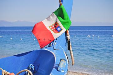 NOLI, RIVIERA LIGURA, TRADIZIONALE BARCA DA PESCA ITALIANA