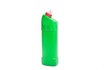 Greeb cleaning detergent bottle isolated