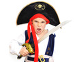 enfant garçon 6 ans déguisement pirate fond blanc - carnaval - 30516215