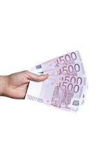 hand golding euro
