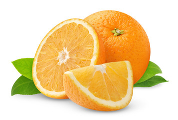 Beautiful oranges isolated on white