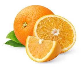 Beautiful oranges isolated on white