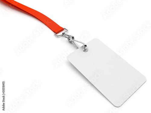 Badge d'accès sur fond blanc 1