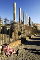 Mendicante ai Fori Imperiali,Roma,Italy