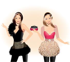 Fashion illustration-Fashion girls