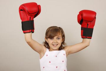 Niña boxeadora