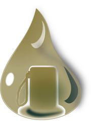 Erdöl Tropen mit Tankstelle im Zentrum