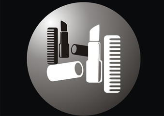 vector illustration depicting icons stylist