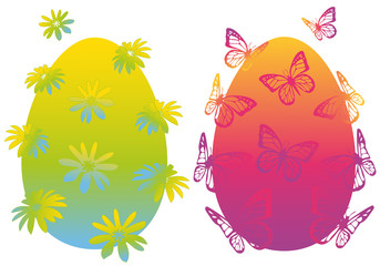 colorful easter eggs, vector