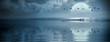 Leinwanddruck Bild - Fullmoon over the ocean