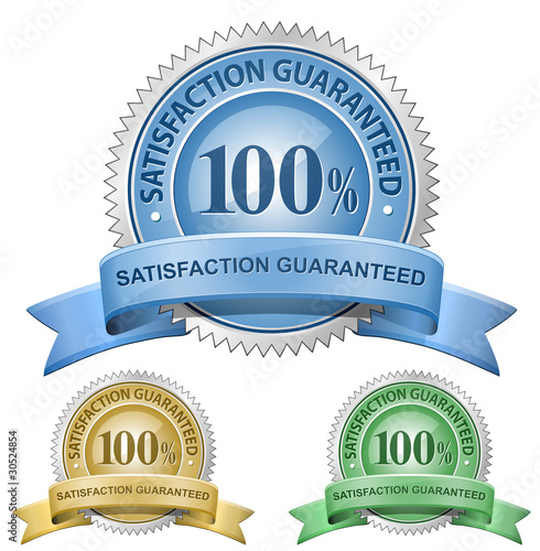 100% Satisfaction Guaranteed Signs