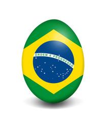 Osterei-Flagge Brasilien