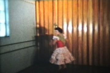 Girl Spanish Dancing (1958 Vintage 8mm film)