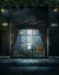 Wiktoriański sklep nocą