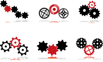 Gears - black and red - 3