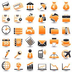icon: business orange