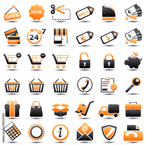 icon: shopping orange